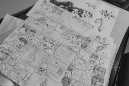Bande dessinée sur l'écologie, réalisation Roms